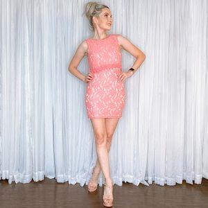 Nikki D Dresses - Pink Lace Mini Dress